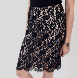Banana Republic Black Lace Pencil Skirt